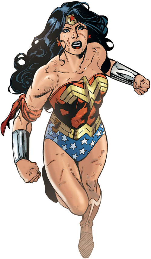 Wonder Woman (DC Comics) (Gail Simone era) flying into battle