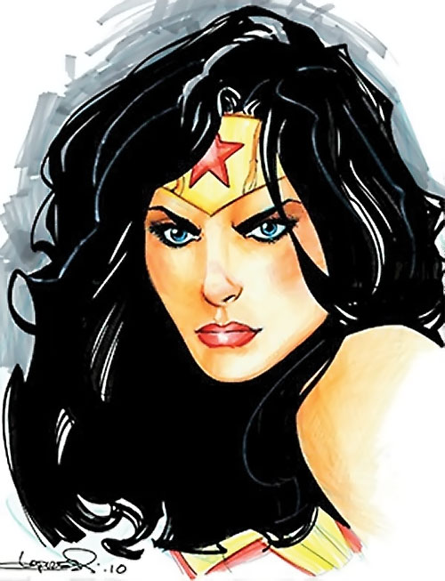 Wonder Woman (DC Comics) (Gail Simone era) Lopresti portrait 2010