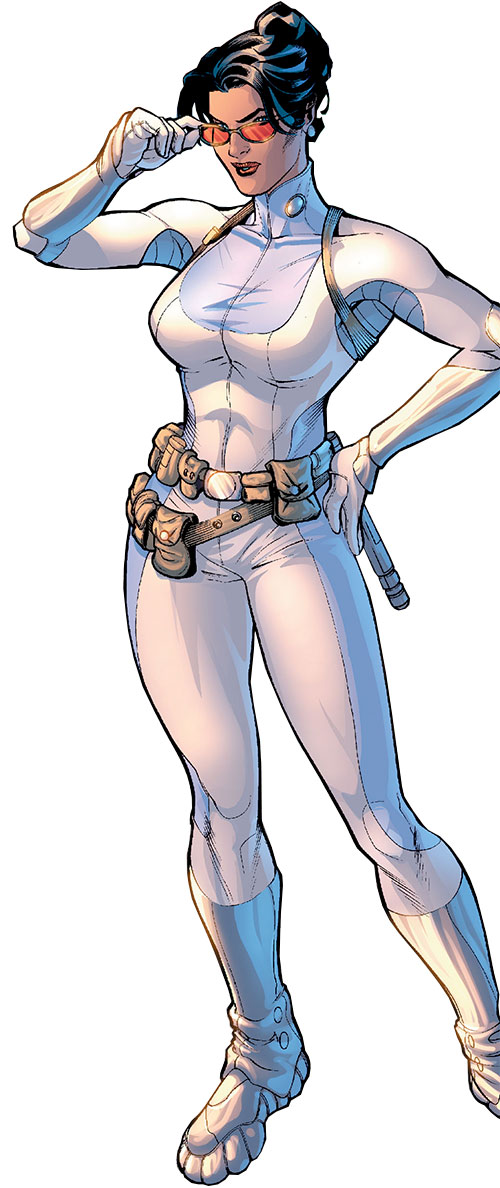 Wonder Woman (DC Comics) (Gail Simone era) as Diana Prince in her white jumpsuit