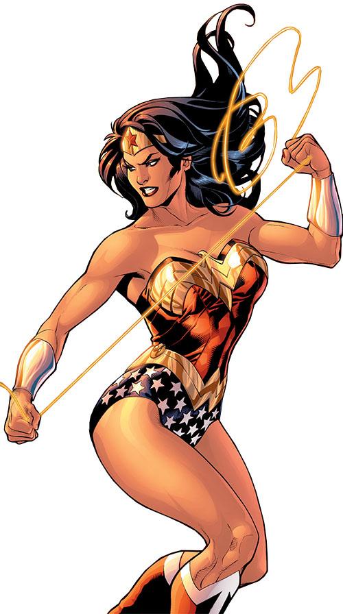 Wonder Woman (DC Comics) (Gail Simone era) handling her lasso