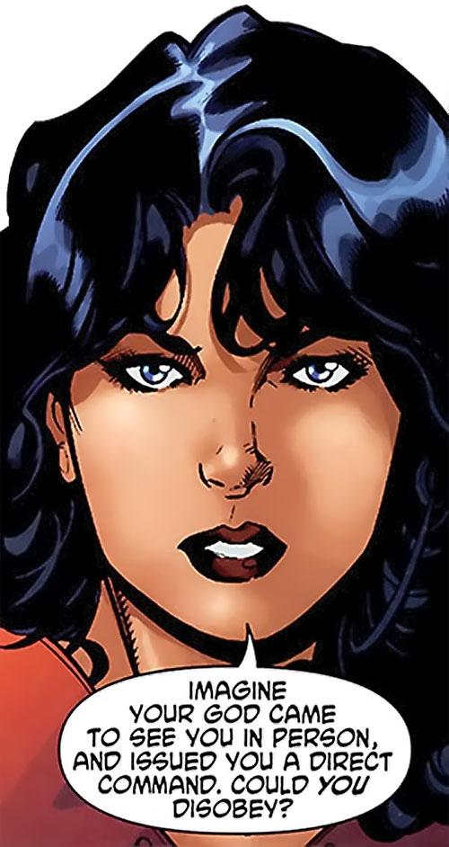Wonder Woman (DC Comics) (Gail Simone era) about Zeus' orders