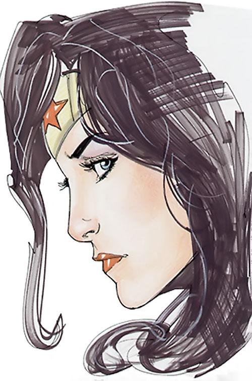 Wonder Woman (DC Comics) (Gail Simone era) face side sketch