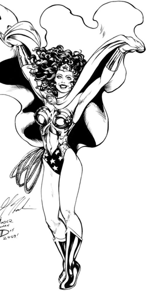 Wonder Woman (DC Comics) exultant