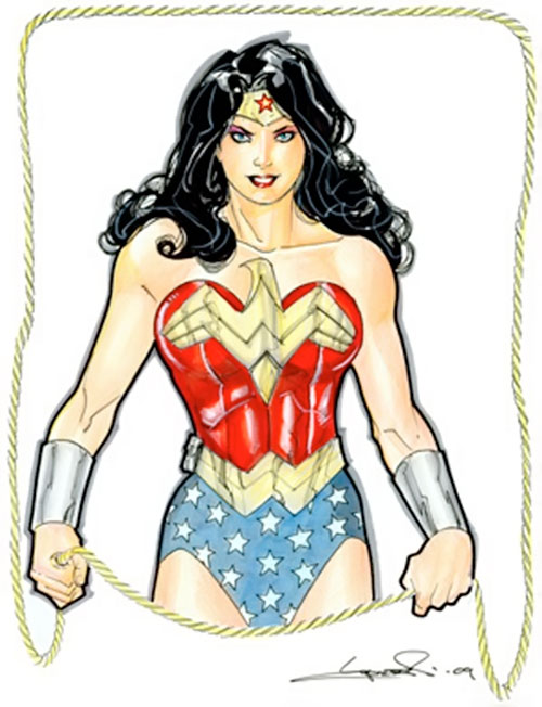 Wonder Woman (DC Comics) Lopresti sketch