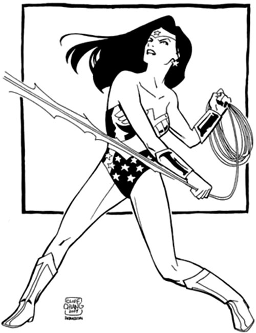 Wonder Woman (DC Comics) and her lasso by Cliff Chiang