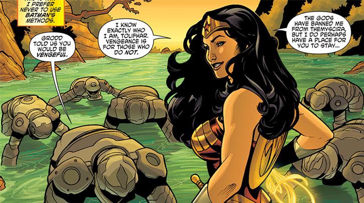 Gorilla Knights submit to Wonder Woman
