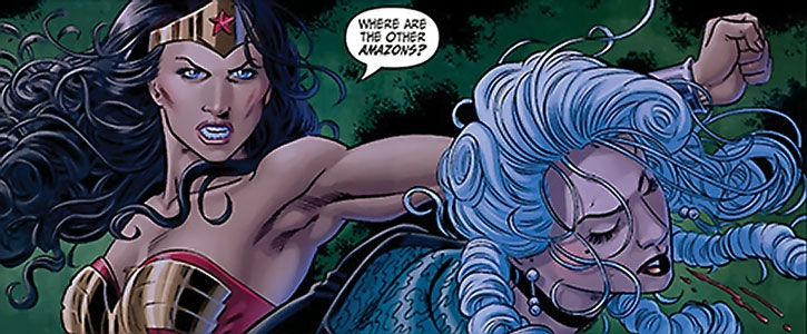 Wonder Woman backhands Jeanette