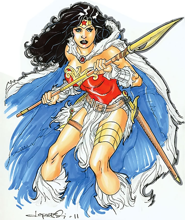 Wonder Woman color sketch by Aaron Lopresti