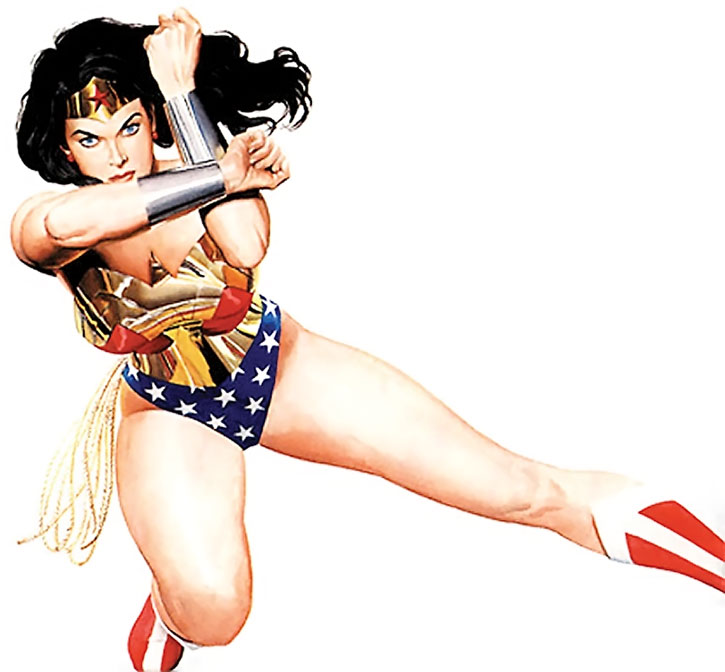 Wonder Woman by Alex Ross, over a white background