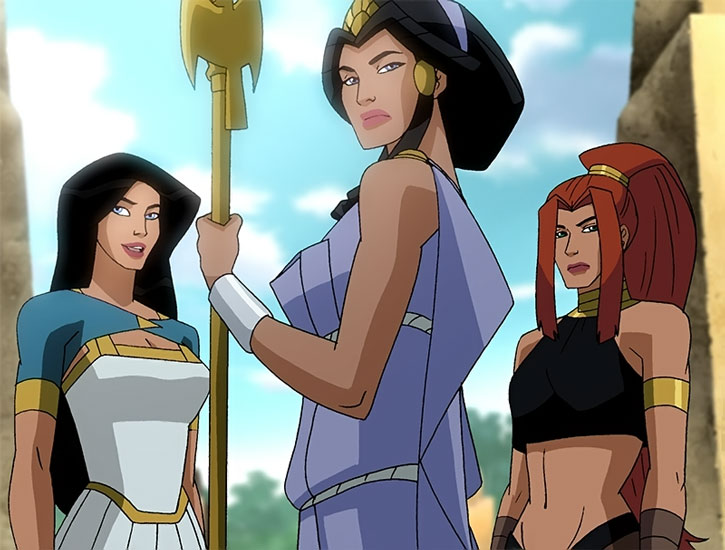 Wonder Woman with Hippolyta and Artemis (animated movie)