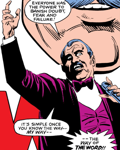The Word (Marvel Comics) giving a speech