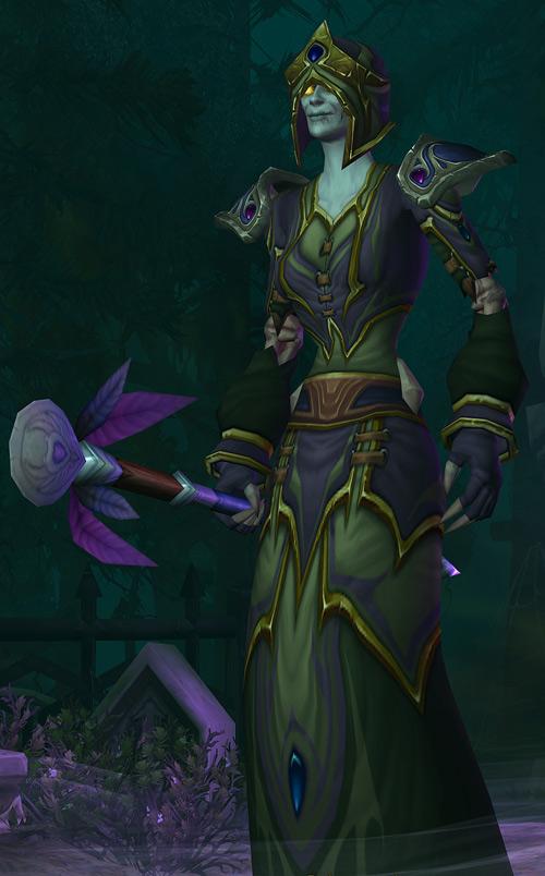 World of Warcraft - Forsaken Shadow Priest elaborate robe and hat