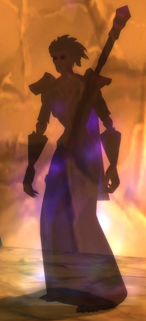 World of Warcraft - Forsaken Shadow Priest shadow form and ochre wall