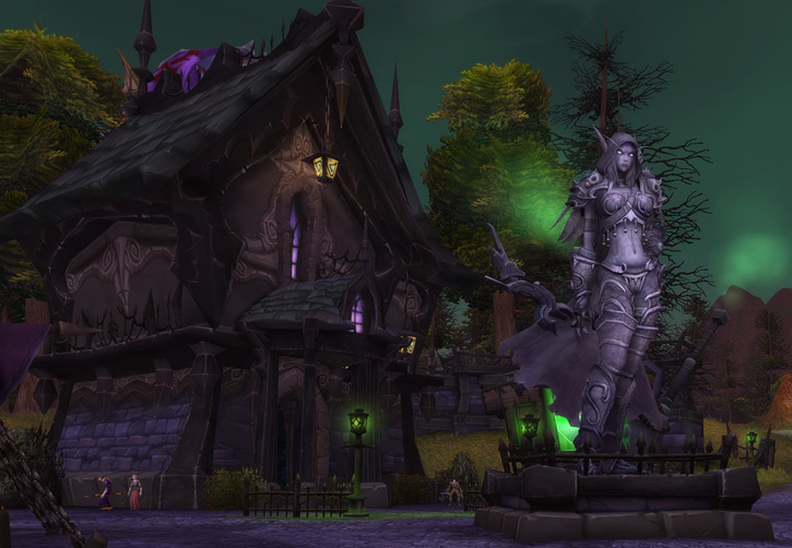 World of Warcraft - Brill and the Sylvanas monument