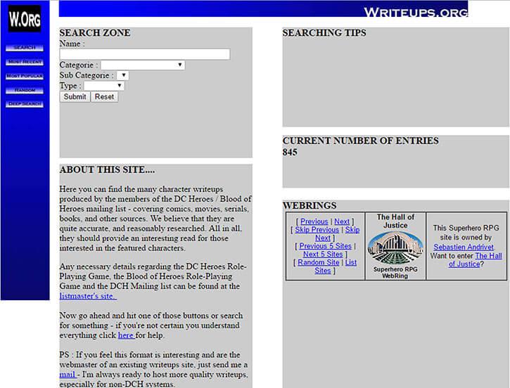Writeups.org in 2002