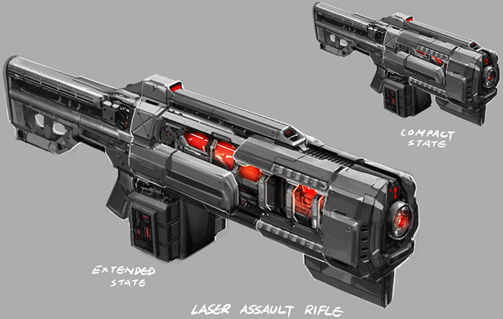 XCom laser rifle concept art