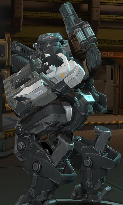 XCom video game - MEC Mk2 back and side view