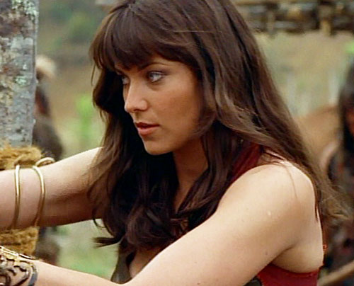 Xena (Lucy Lawless) as a youth