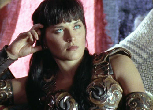 Xena (Lucy Lawless) looking pensive