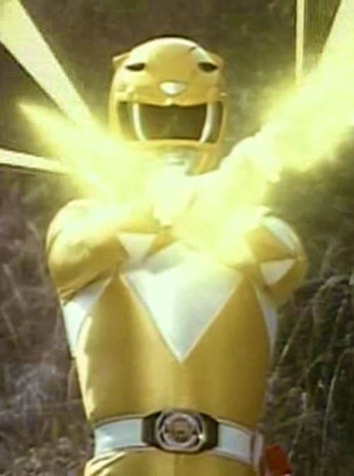 Yellow Ranger (Trini) of the Mighty Morphin Power Rangers yellow flash