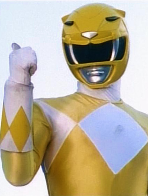 Yellow Ranger (Trini) of the Mighty Morphin Power Rangers thumb up