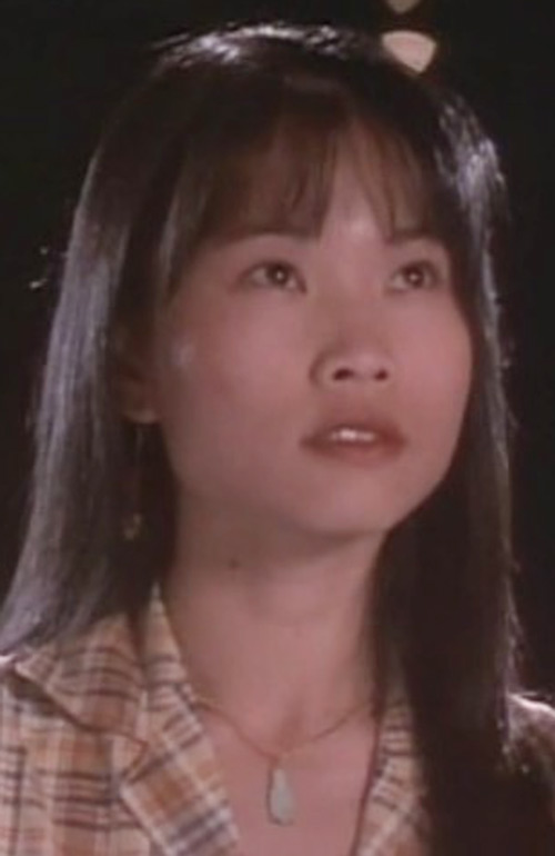 Yellow Ranger (Trini) of the Mighty Morphin Power Rangers - Thuy Trang face closeup