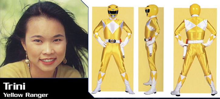 Yellow Ranger (Trini) of the Mighty Morphin Power Rangers banner