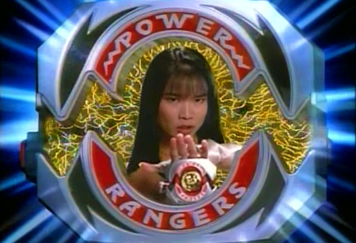 Yellow Ranger (Trini) of the Mighty Morphin Power Rangers power morpher