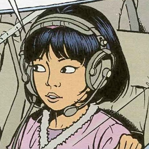 Yoko Tsuno with radio headset