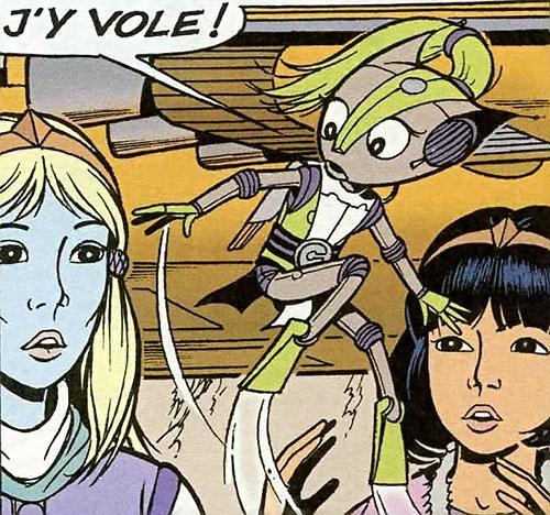 Yoko Tsuno with Khany and Myna