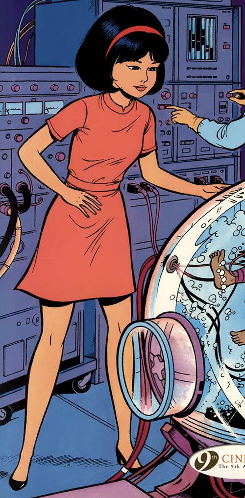 Yoko Tsuno 1970s orange dress
