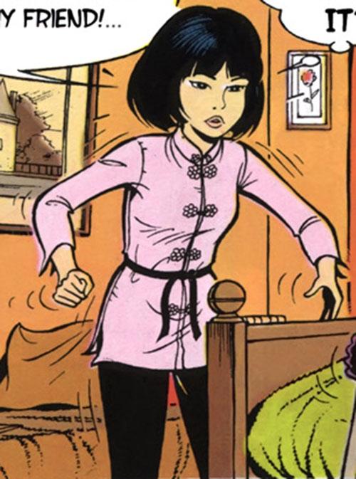 Yoko Tsuno pink Asian vest