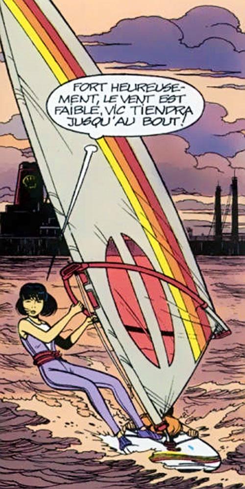 Yoko Tsuno windsurfing planche à voile