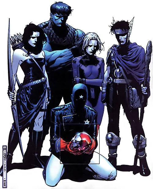 Young Avengers team (Marvel Comics) mourning Iron Lad