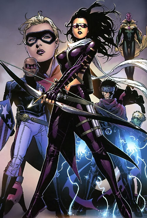 Young Avengers team (Marvel Comics) with Hawkeye fronting