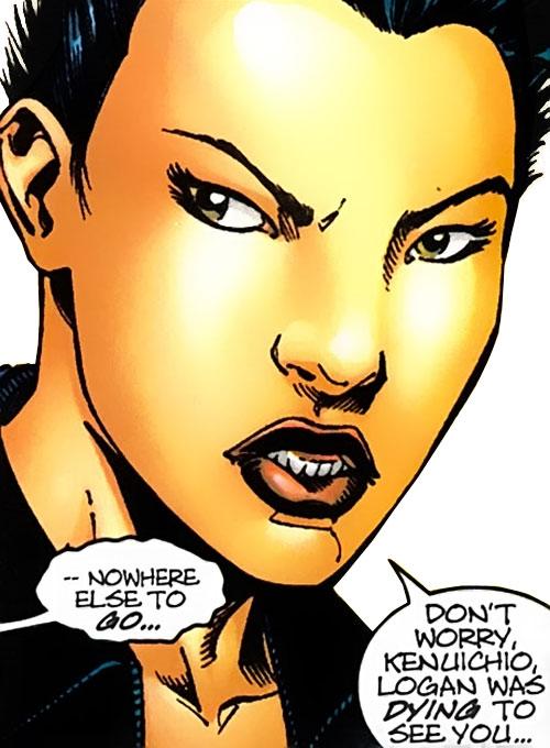 Yukio (Marvel Comics) (Wolverine ally) face closeup