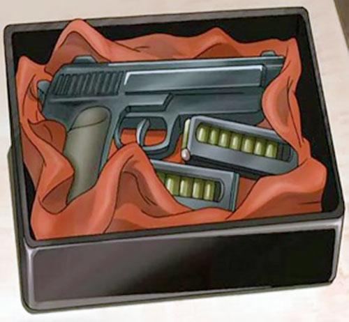 Yukio Washimine (Black Lagoon)'s pistol in a box