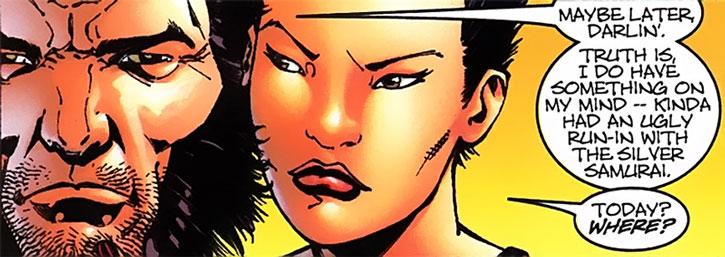 Yukio and Wolverine closeup
