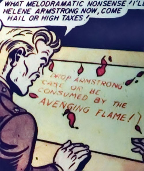 Steve Trevor ignoring the warning of the Crimson Flame