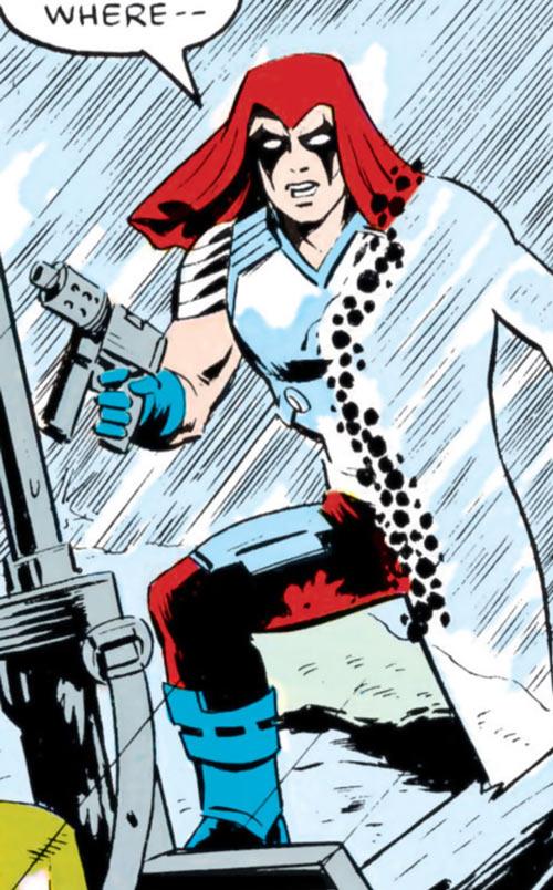 Zartan (G.I. Joe enemy) (Marvel Comics) optic camouflage in rain