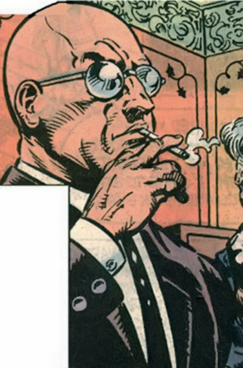 Zastrow of the Red Shadows (DC Comics) smoking