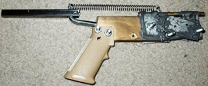 .22 brass zip gun with odd striker.