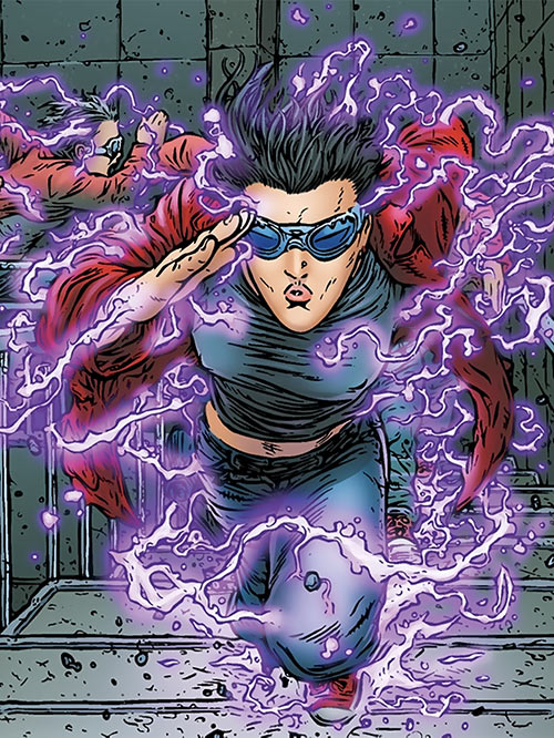 Zoe Jump (Black Summer Avatar Comics) sprinting upstairs