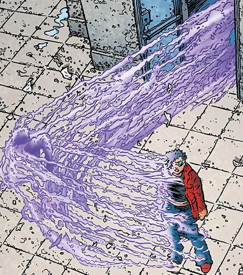 Zoe Jump (Black Summer Avatar Comics) purple super-speed trail