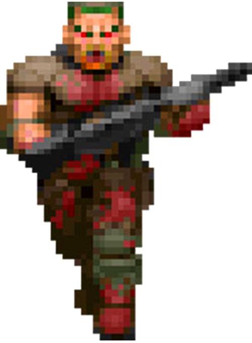 Zombie Doom video game sprite