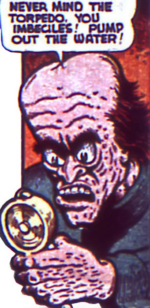 Zombo the Hypnotist (Timely comics) on the mike