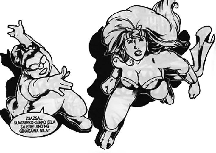 Zsa-Zsa Zaturnnah black and white comic