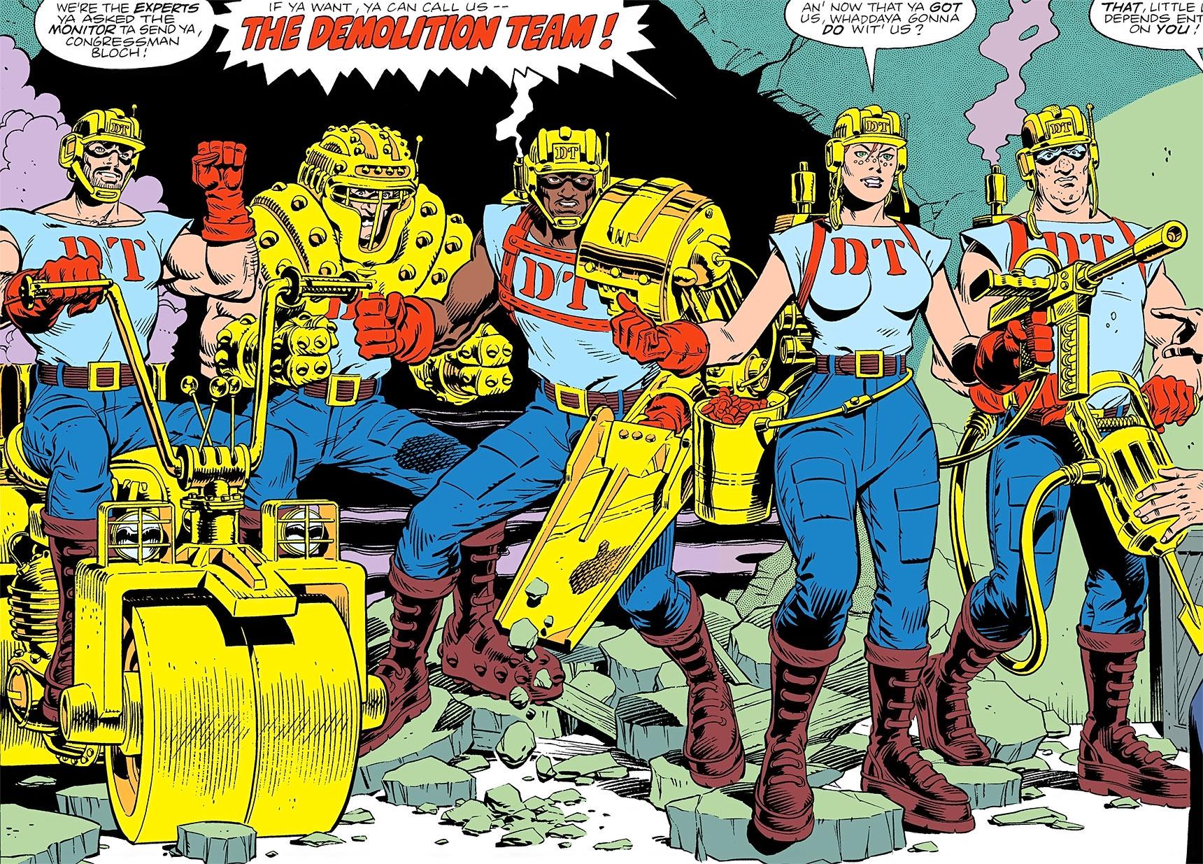 rosie - demolition team - dc comics