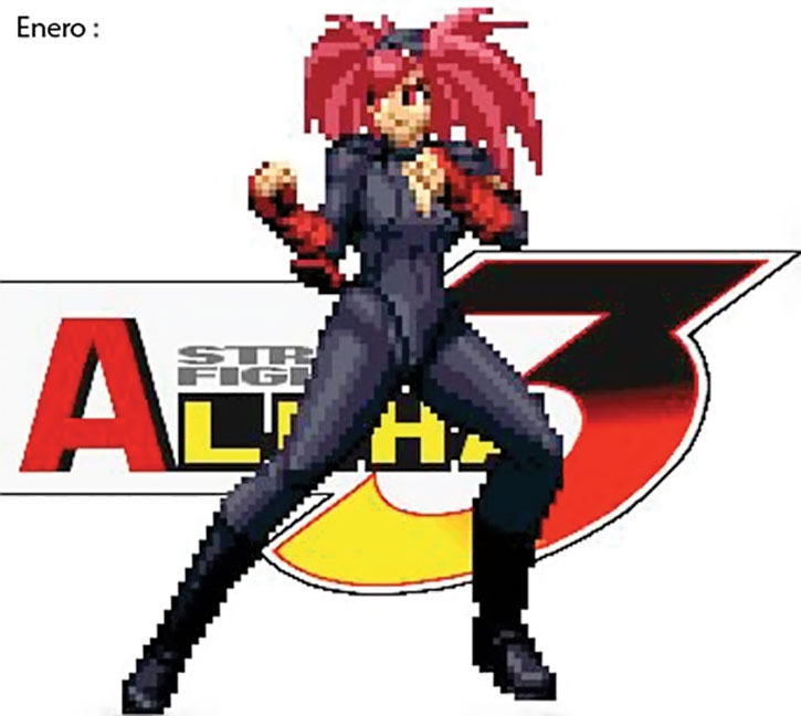 Enero of the 12 dolls of Shadoloo in Street Fighters Alpha 3