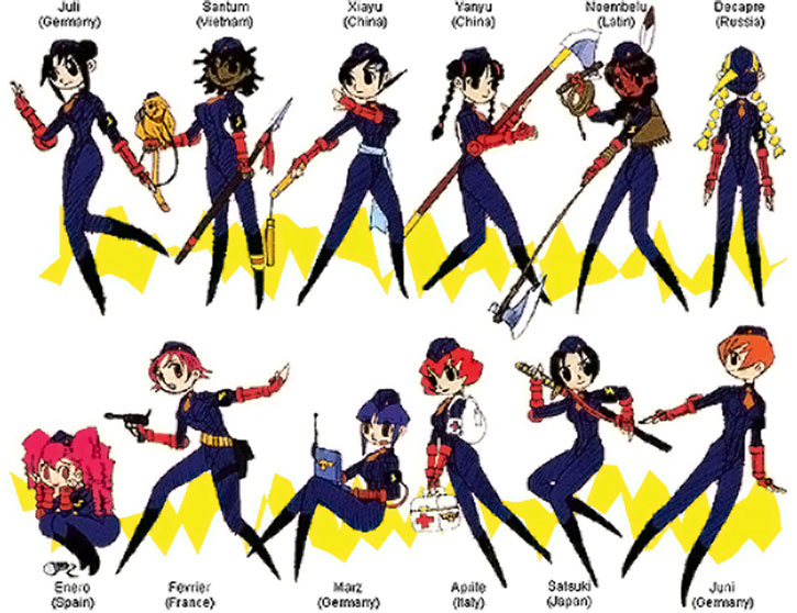 The 12 dolls of Shadoloo in Street Fighters - recognition guide